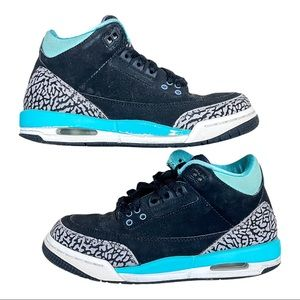 AIR JORDAN 3 RETRO BLACK MINT Size 4 Youth Shoes